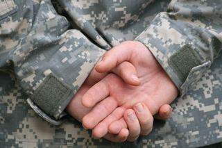 Soldier's hands Veteran's Day