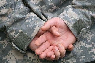 Soldier's hands Veteran's Day