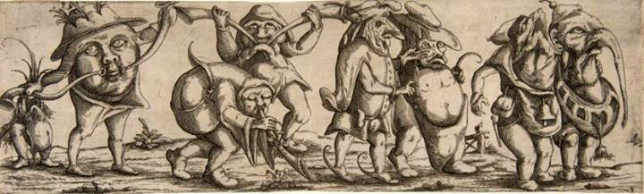 Procession of Monstrous Creatures, Wendell Dietterlin the Younger, 1615