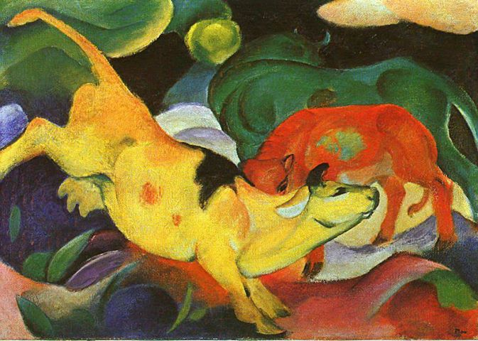 Cows, Yellow-Red-Green, Franz Marc, 1912