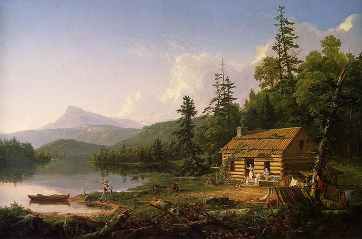Home in the Woods, Thomas Cole, 1847