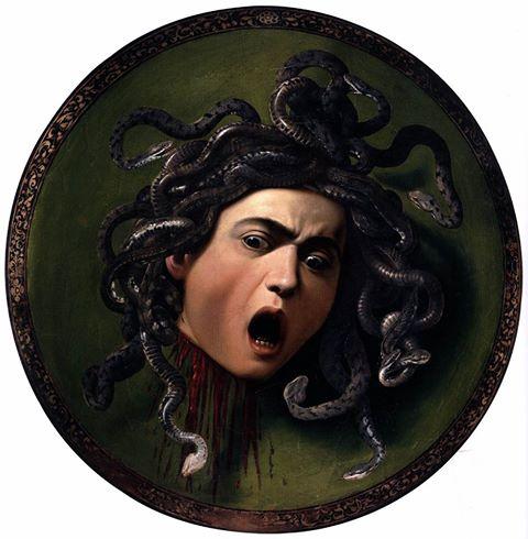 Medusa, Caravaggio, ca. 1598