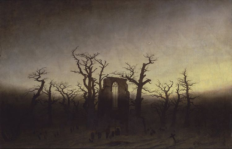 Abbey Among Oak Trees, Caspar David Friedrich, 1809