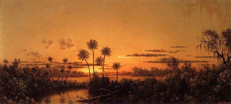 Florida River Scene (Early Evening, After Sunset), Martin Johnson Heade, ca. 1887-1900