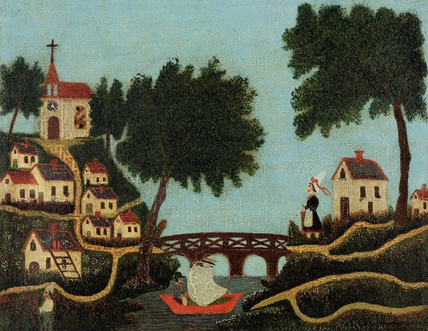 Landscape with Bridge, Henri Rosseau, 1877