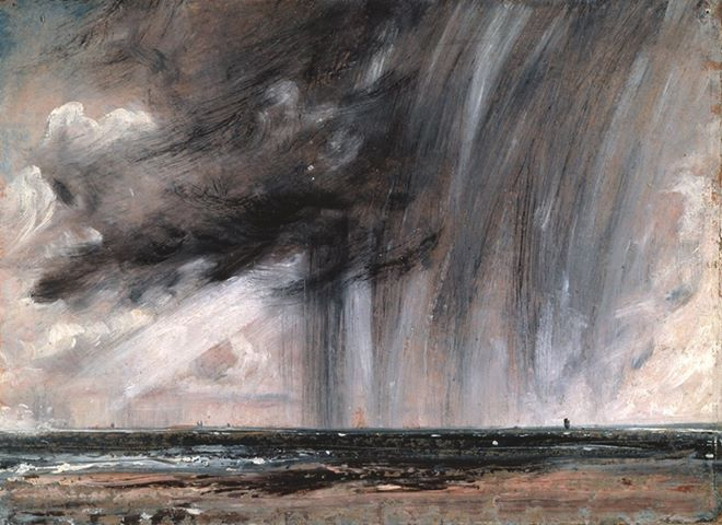Seascape Study with Raincloud, John Constable, 1827