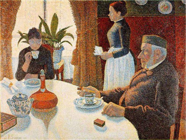 Le Petit Dejeuner, Paul Signac, 1886-87