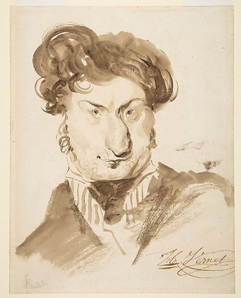 Caricature of Charles-Henri Plantade, Horace Vernet (1789-1863)