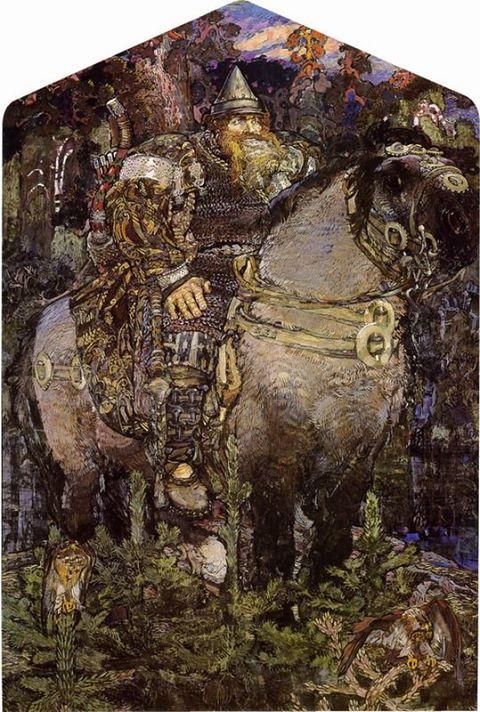 Bogatyr, Mikhail Vrubel, 1898-99
