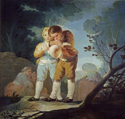 Boys Inflating a Bladder, Francisco de Goya y Lucientes, 1778
