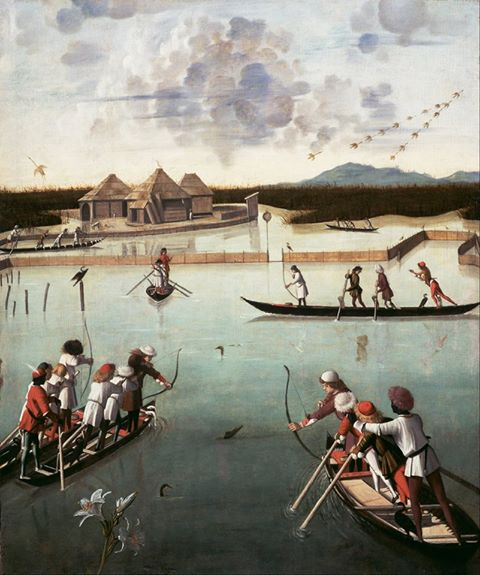 Hunting on the Lagoon, Vittore Carpaccio,  ca. 1490-95